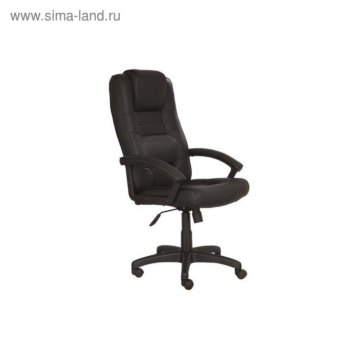 Кресло руководителя T-9906AXSN черный, кожа