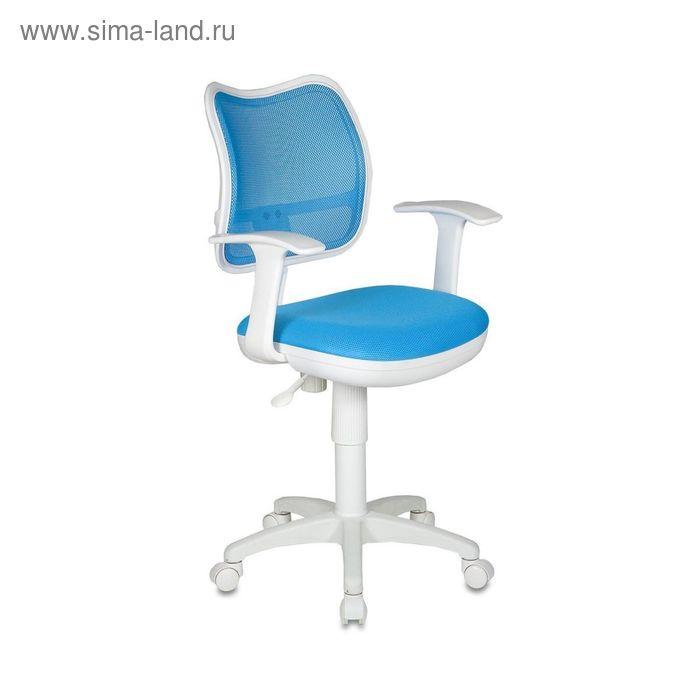 Кресло CH-W797/LB/TW-55 спинка сетка светло-голубой, сиденье светло-голубой