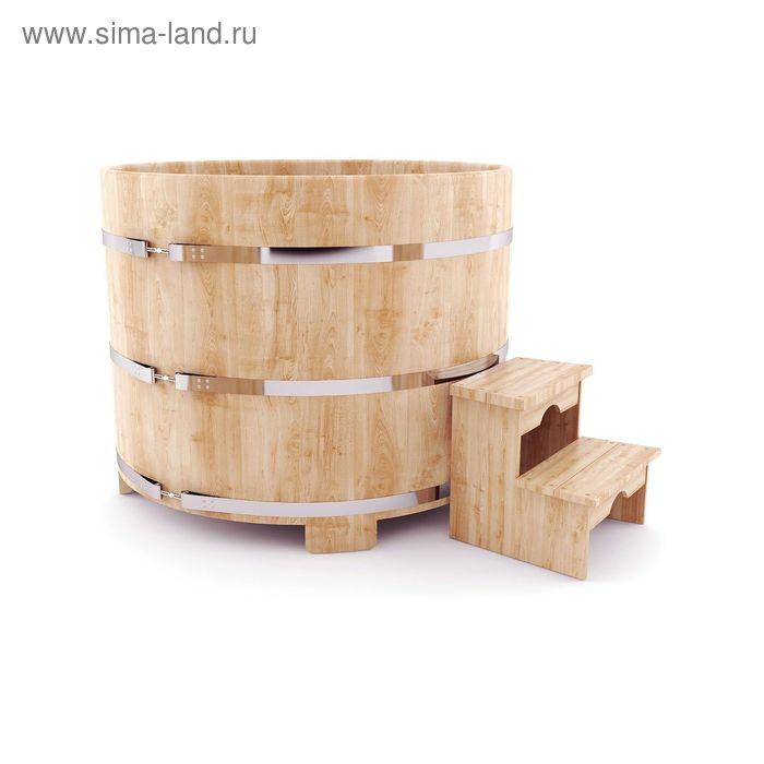 Кедровая купель круглая диаметр 200 см, высота 120 см
