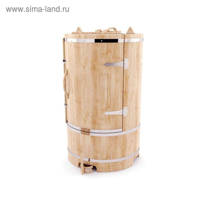 Кедровая фитобочка круглая гигант 130x100, толщина стенки 2,5 см