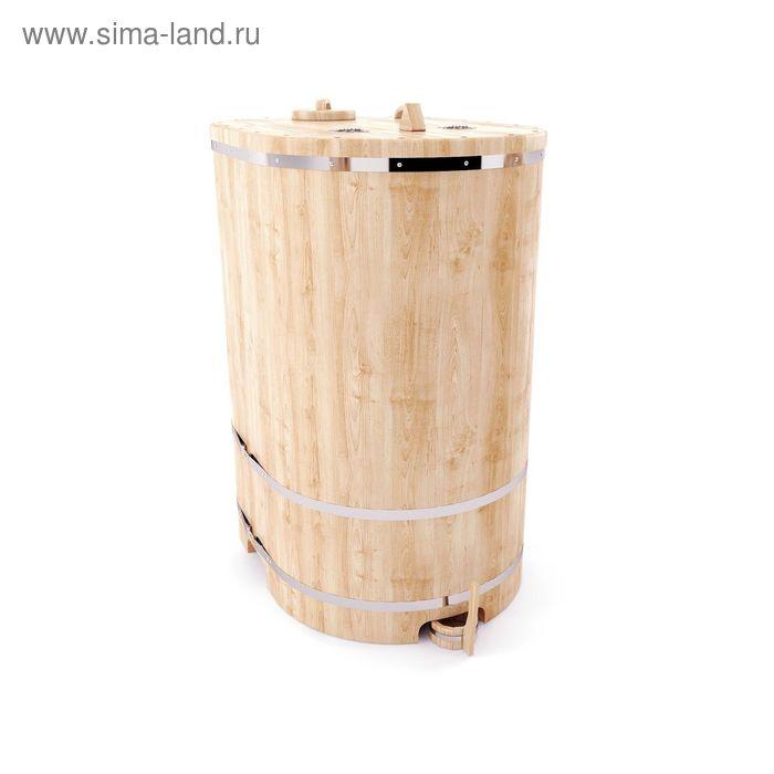 Кедровая фитобочка овальная 130x78x100, толщина стенки 4 см