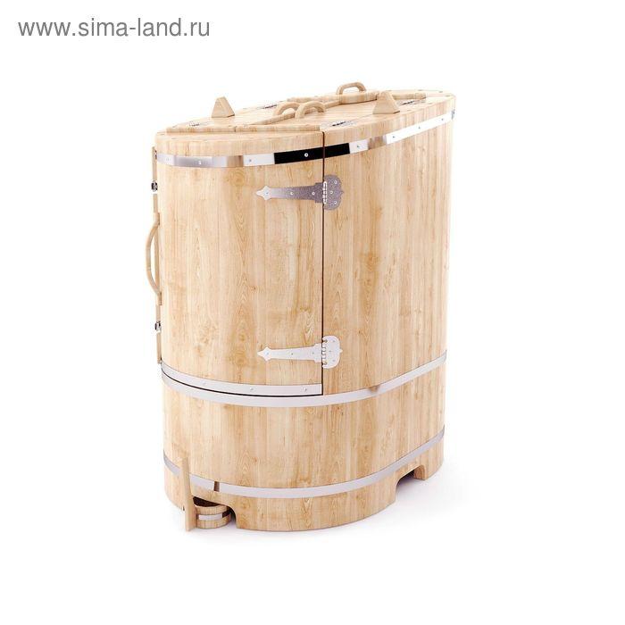 Кедровая фитобочка овальная со скосом 130x78x100, толщина стенки 2,5 см