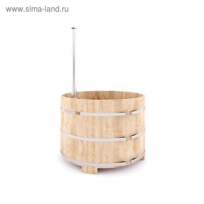 Японская баня Фурако круглая с внутренней дровянной печкой, диаметр 150 см