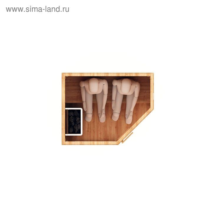 Финская  сауна двухместная, угловая 135x105x200