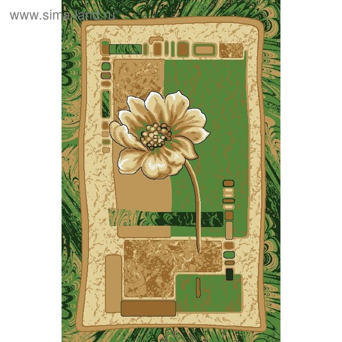 """Ковёр """"Азалия"""", размер 80х125 см, цвет зелёный"""