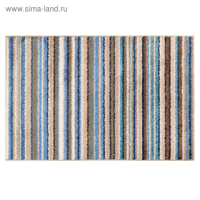 Ковёр фризе Мехико, размер 80х120 см, цвет синий, войлок 200 г/м2