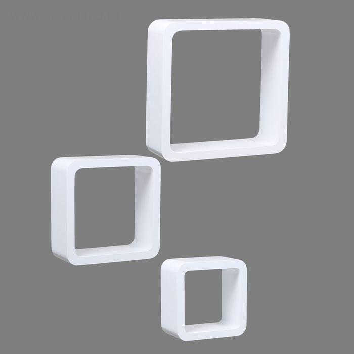 Комплект полок 3 шт, белый глянец