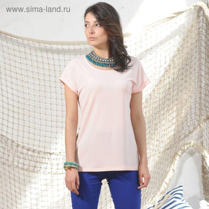 Блуза 4974, размер 48, рост 164 см, цвет светло-розовый