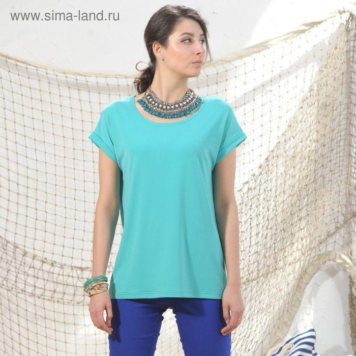 Блуза 4974б, размер 48, рост 164 см, цвет зеленый