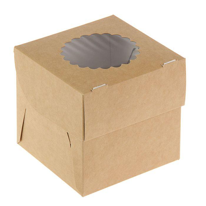 Упаковка для маффинов 10 х 10 х 10 см, на 1 шт
