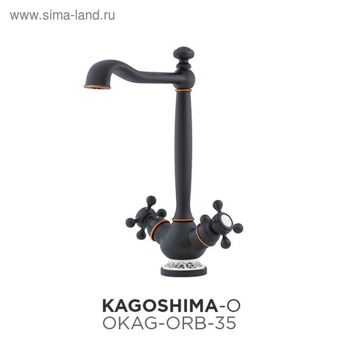 Смеситель для кухни Omoikiri Kagoshima-ORB OKAG-ORB-35, античная бронза/керамический элемент с восто