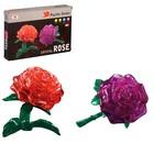 """Пазл 3D кристаллический, """"Роза"""", 22 детали, цвета МИКС"""