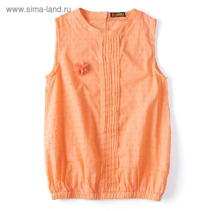 """Блуза для девочки """"Шитье"""", рост 152 см, цвет терракот (арт. 87631б)"""