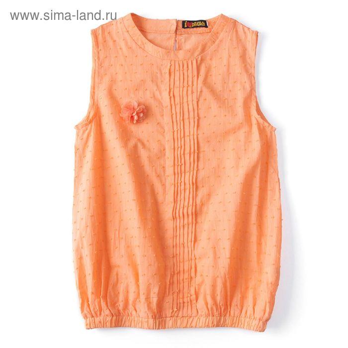 """Блуза для девочки """"Шитье"""", рост 146 см, цвет терракот (арт. 87631б)"""