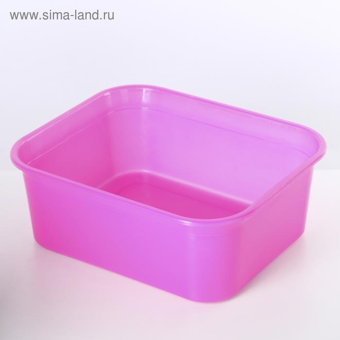 Емкость для хранения 6,5 л прямоугольная, цвет МИКС