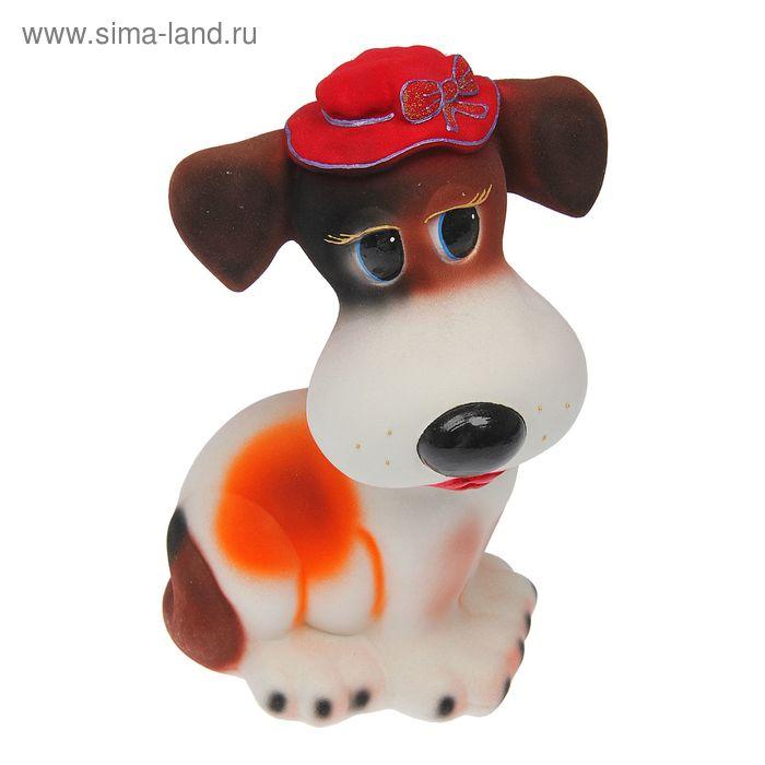 """Копилка """"Собака Шарлин"""" флок, рыжая"""