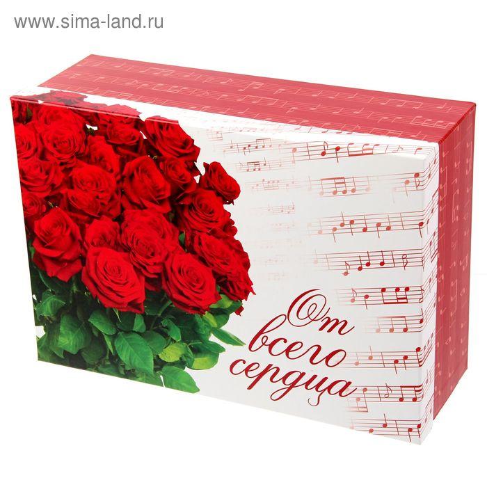"""Коробка подарочная """"Букет роз"""" 32х22х11,5 см"""