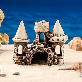 """Декорации для аквариума """"Три башни в ряд"""" микс"""