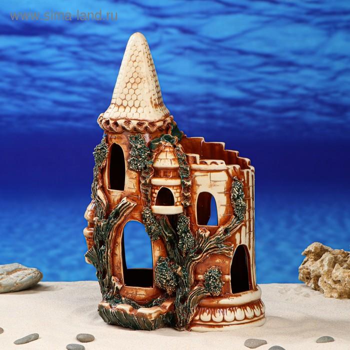 """Декорации для аквариума """"Башня"""" серая"""