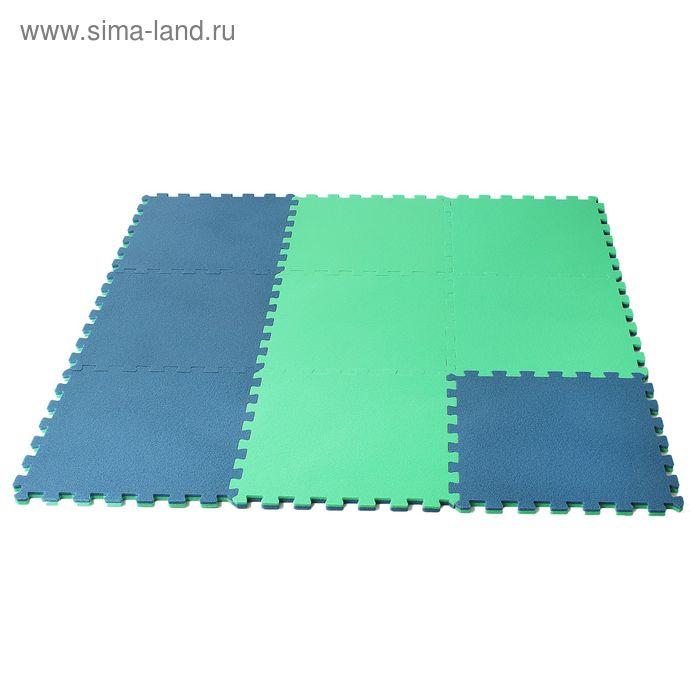 Коврик спортивный размер 1270 х1270 см цвет сине-зеленый