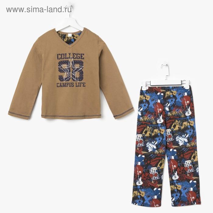 Пижама для мальчика, рост 134 см (68), цвет МИКС (арт. 631-15)