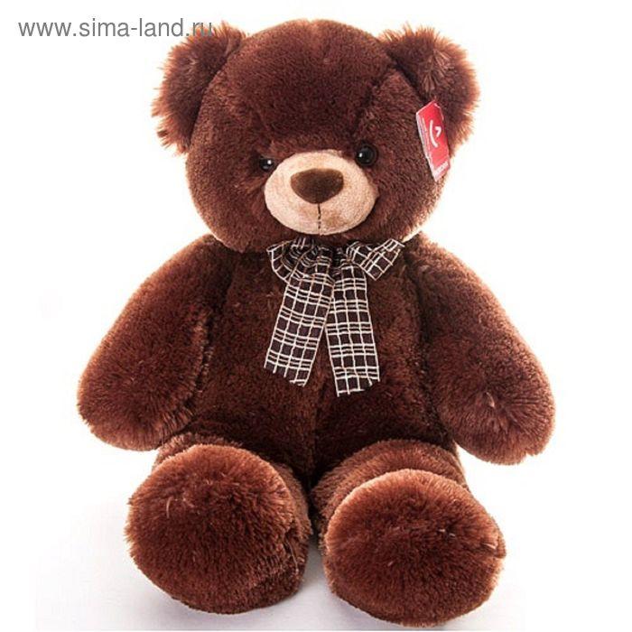 """Мягкая игрушка """"Медведь с бантом"""", цвет коричневый"""