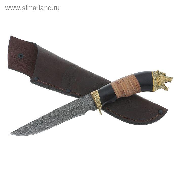 """Нож """"Коготь"""" (5943)д, рукоять-дерево, дамаасская сталь"""