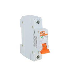Выключатель автоматический TDM ВА47-29, 1п, 16 А, 4.5 кА, SQ0206-0074