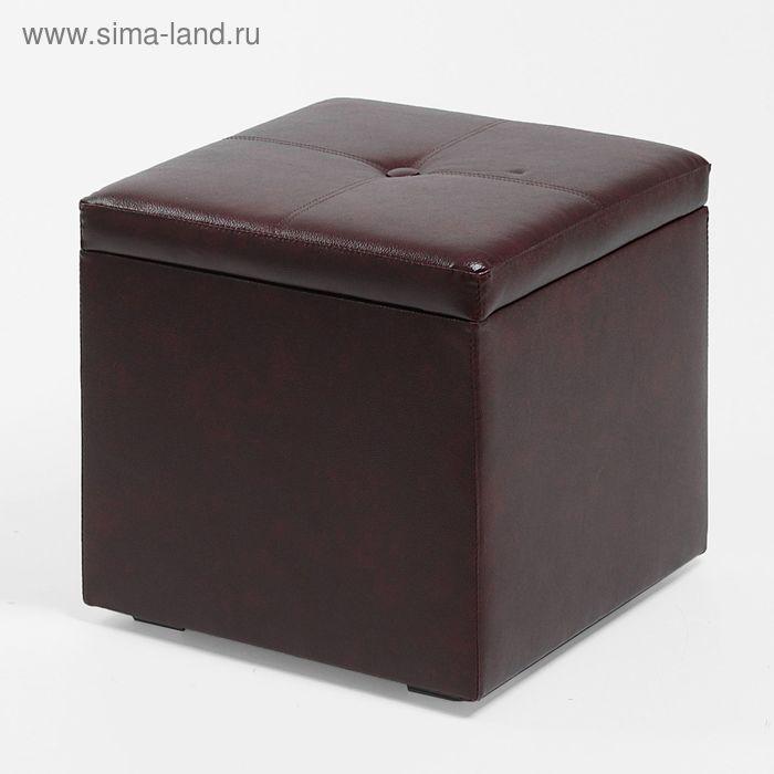 Банкетка КУБА 420*420*420, бордовый
