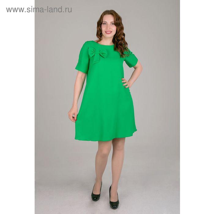Платье женское, размер 52, рост 168, цвет зеленый (арт. 15203 С+)