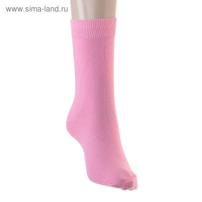 Носки однотонные, размер 26-28, цвет розовый 015/1