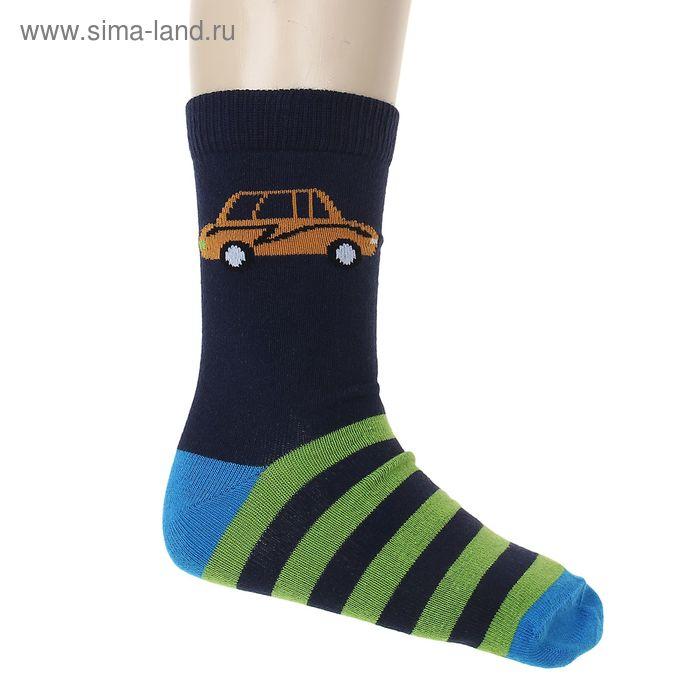 """Носки """"Машинка"""", размер 16-18, цвет тёмно-синий 002/5"""