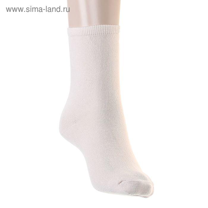 Носки однотонные, размер 26-28, цвет бежевый 015/1