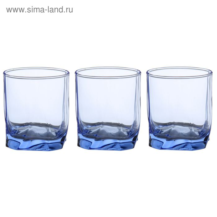"Набор стаканов для сока 240 мл ""Лайт Блю Луна"", 3 шт"