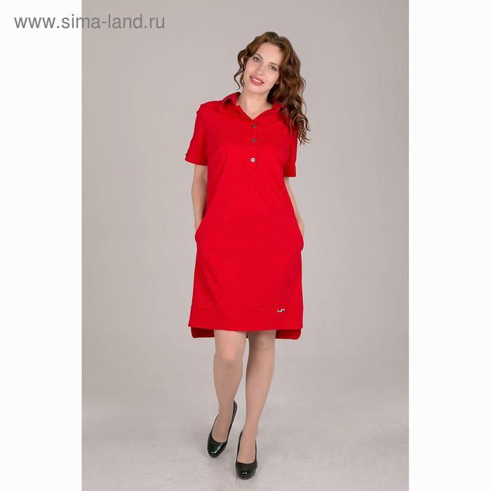 Платье женское, размер 46, рост 168, цвет красный (арт. 17244)