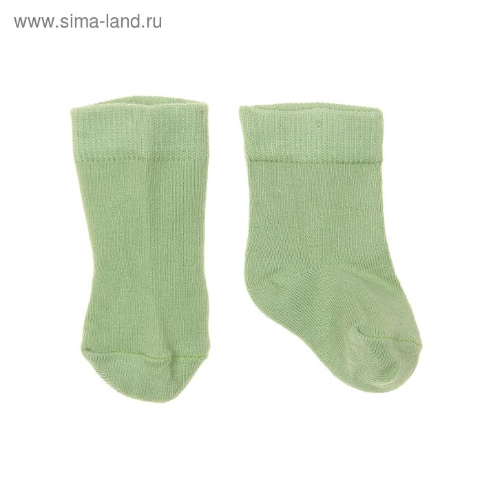 Носки однотонные, размер 8-10, цвет фисташковый 004/6