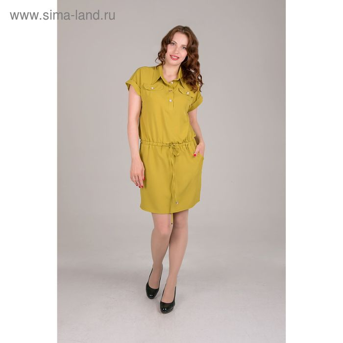 Платье женское, размер 48, рост 168, цвет лайм (арт. 17204)