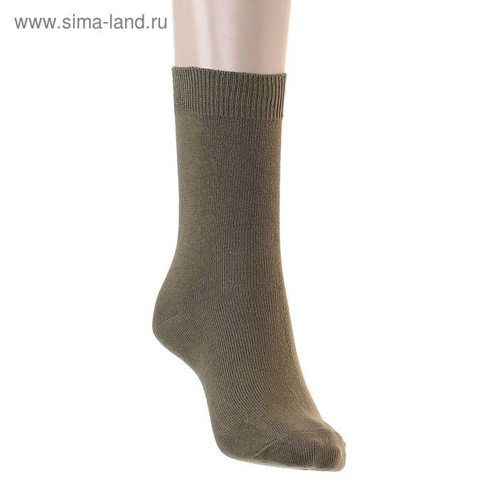 Носки однотонные, размер 26-28, цвет хаки 015/1