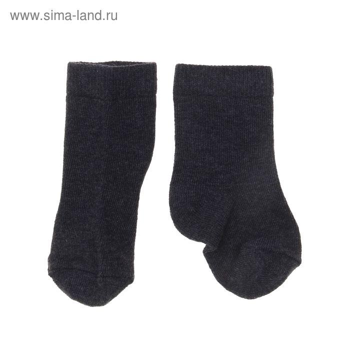Носки однотонные, размер 8-10, цвет тёмно-серый 004/6