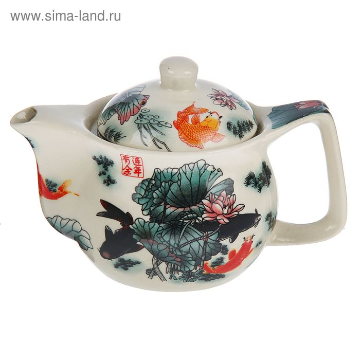 "Чайник заварочный с металл ситом ""Пруд"" 350 мл"