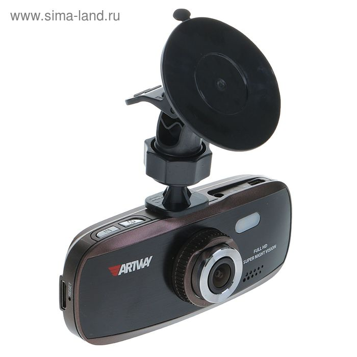 "Видеорегистратор Artway 390, 2.7"" TFT, ночная съемка, обзор 170°, 1920x1080 Full HD"