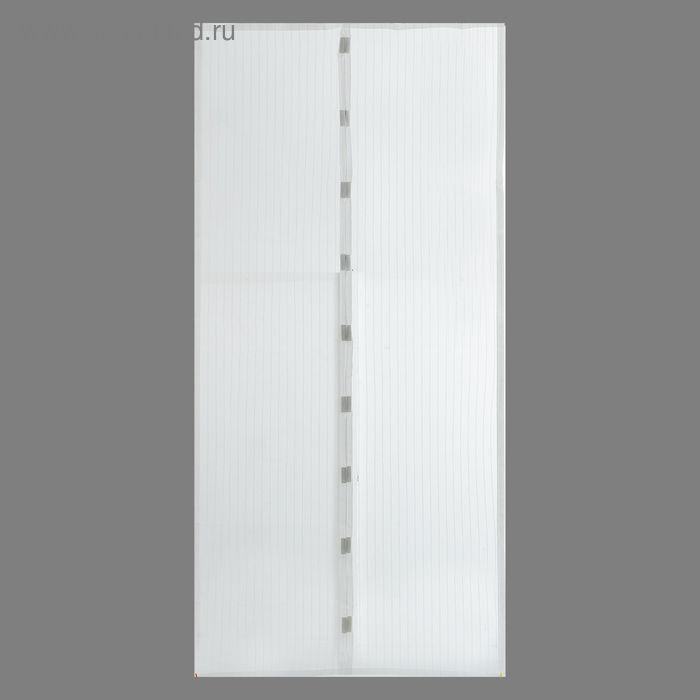 Сетка антимоскитная на магнитах 100х210 см, цвет белый