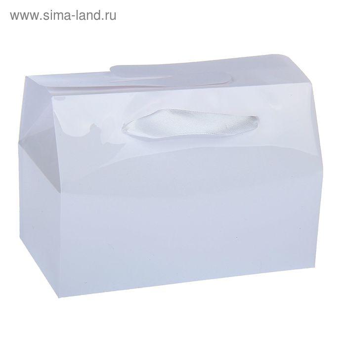 Коробка сборная пластик 15 х 11,5 х 6 см, цвет белый