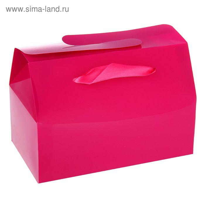 Коробка сборная пластик 15 х 11,5 х 6 см, цвет фуксия