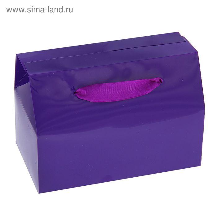 Коробка сборная пластик 15 х 11,5 х 6 см, цвет фиолетовый