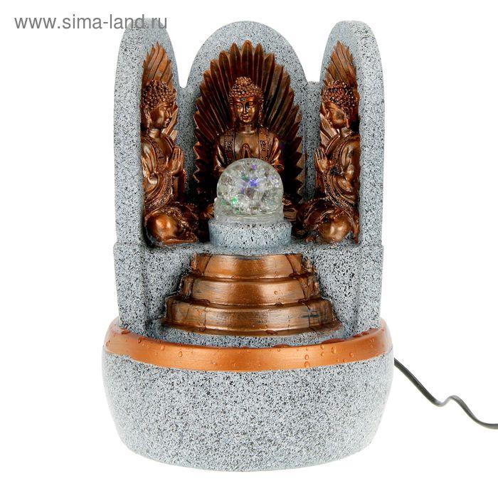 "Фонтан настольный ""Три Будды"" под камень 31х21х18 см"