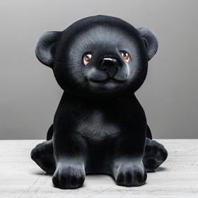 """Копилка """"Мишка Гришка"""" флок, чёрная"""