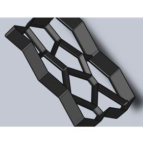 Форма для садовой дорожки 50 х 50 см, черный