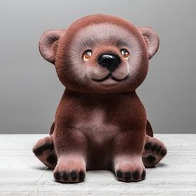 """Копилка """"Мишка Гришка"""" флок, шоколадная"""