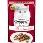 Влажный корм GOURMET MON PETIT для кошек, лосось, пауч, 50 г